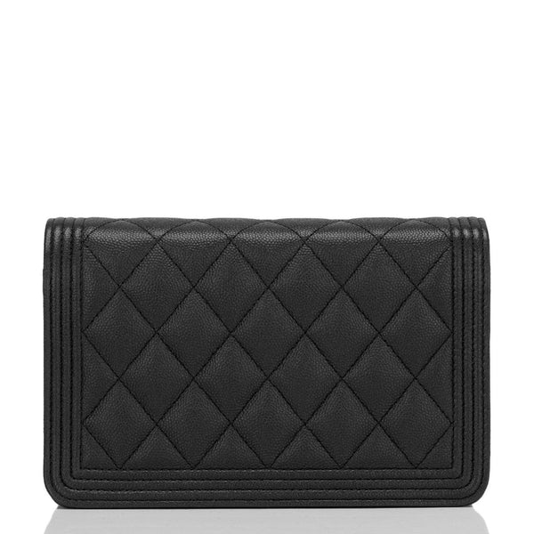 15f6216a8eb9 Chanel SO Black Quilted Caviar Boy Wallet On Chain (WOC) – Madison ...