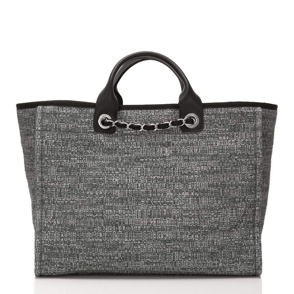 5928bf7b9c6 Chanel Large Charcoal Canvas Deauville Tote – Madison Avenue Couture