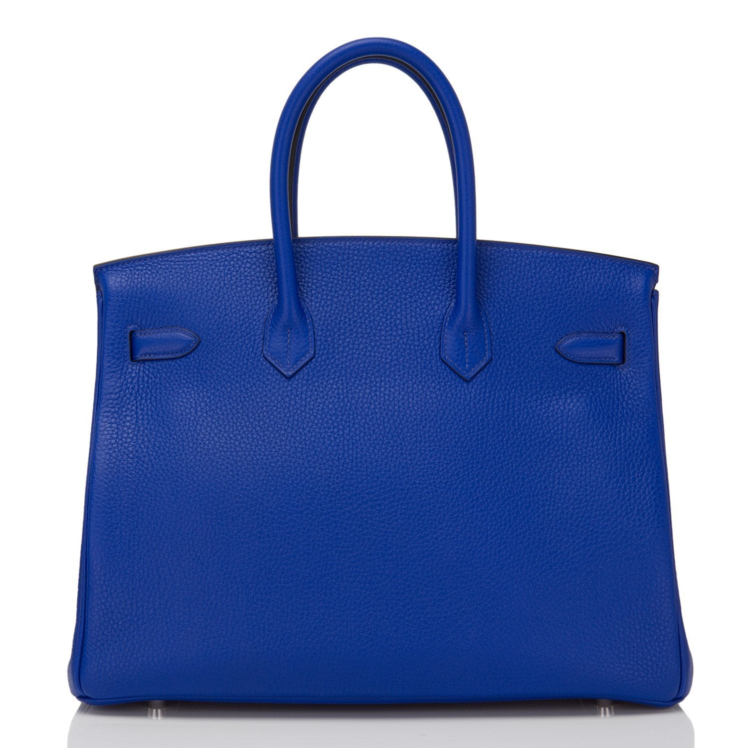 Hermes Blue Electric Togo Birkin 35Cm Palladium Hardware Handbags