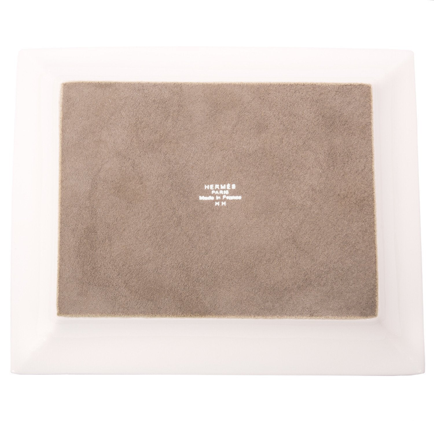 Hermes Mosaique Au 24 Platinum Tray Home