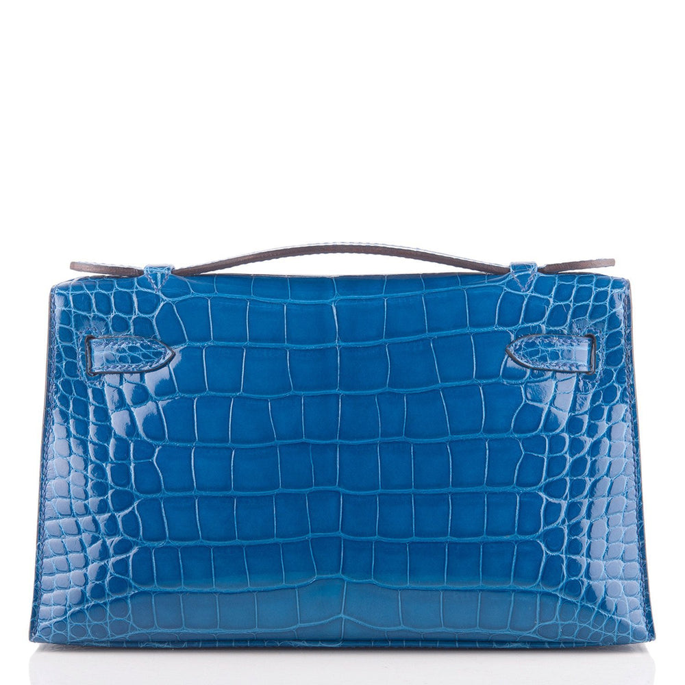 Hermes Mykonos Shiny Alligator Mini Kelly Pochette Handbags