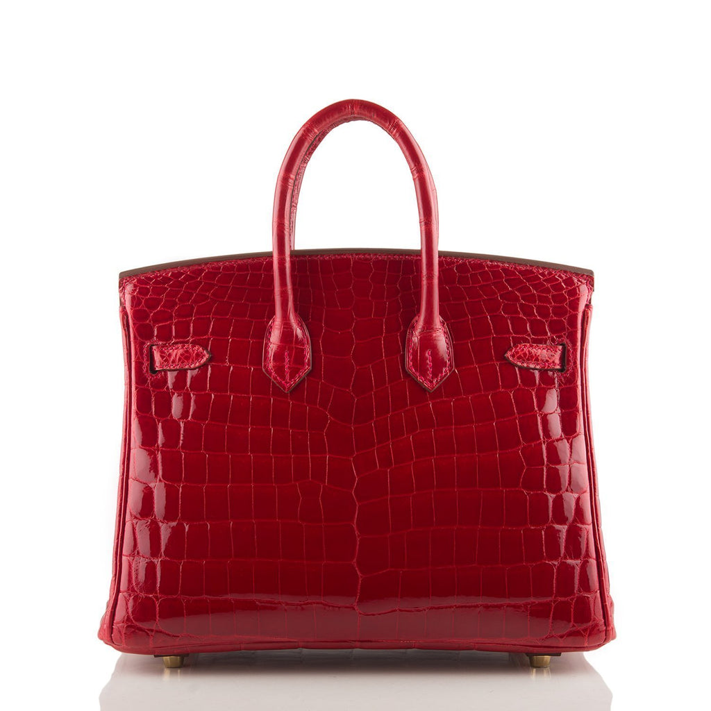 Hermes Braise Niloticus Crocodile Birkin 25Cm Gold Hardware Handbags