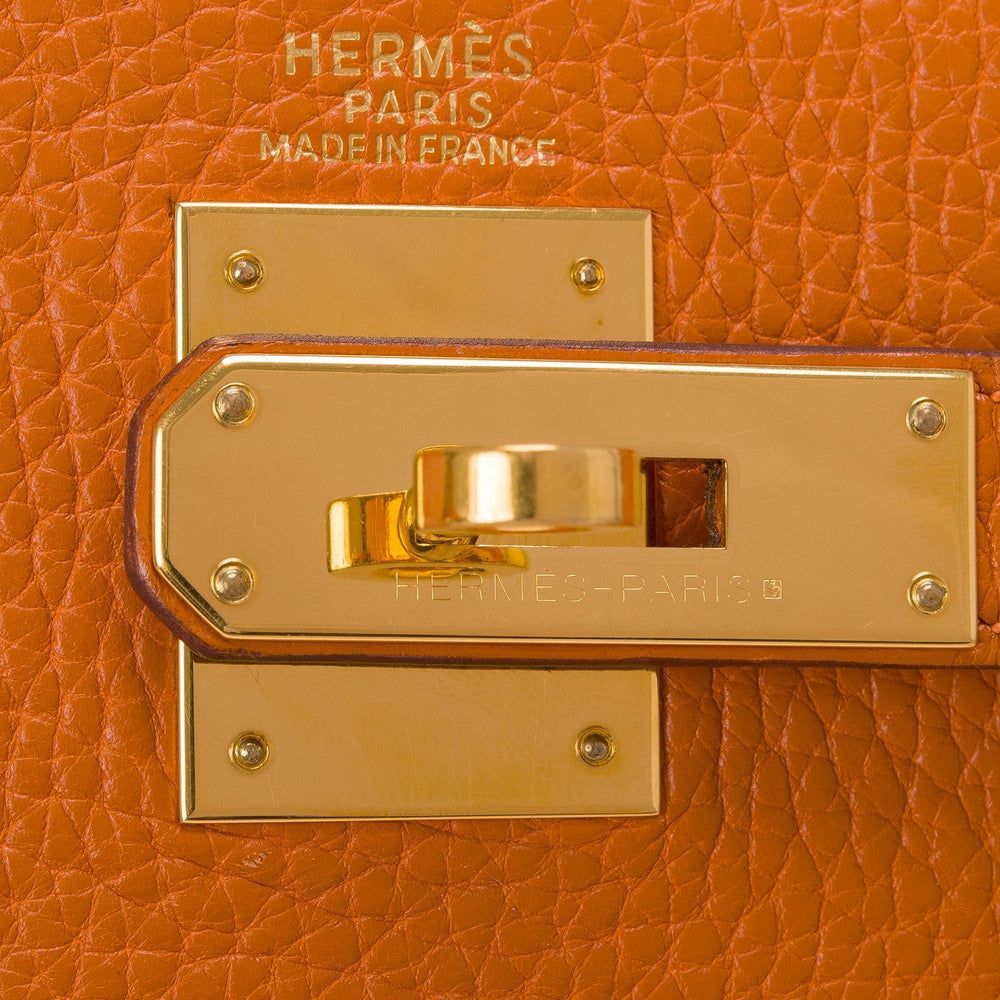 Hermes Potiron Togo Kelly 32Cm Gold Hardware Pre Loved Handbags