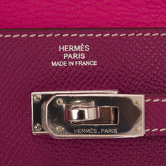 Hermes Bi Color Tosca And Rose Tyrien Epsom Kelly Long Wallet Handbags