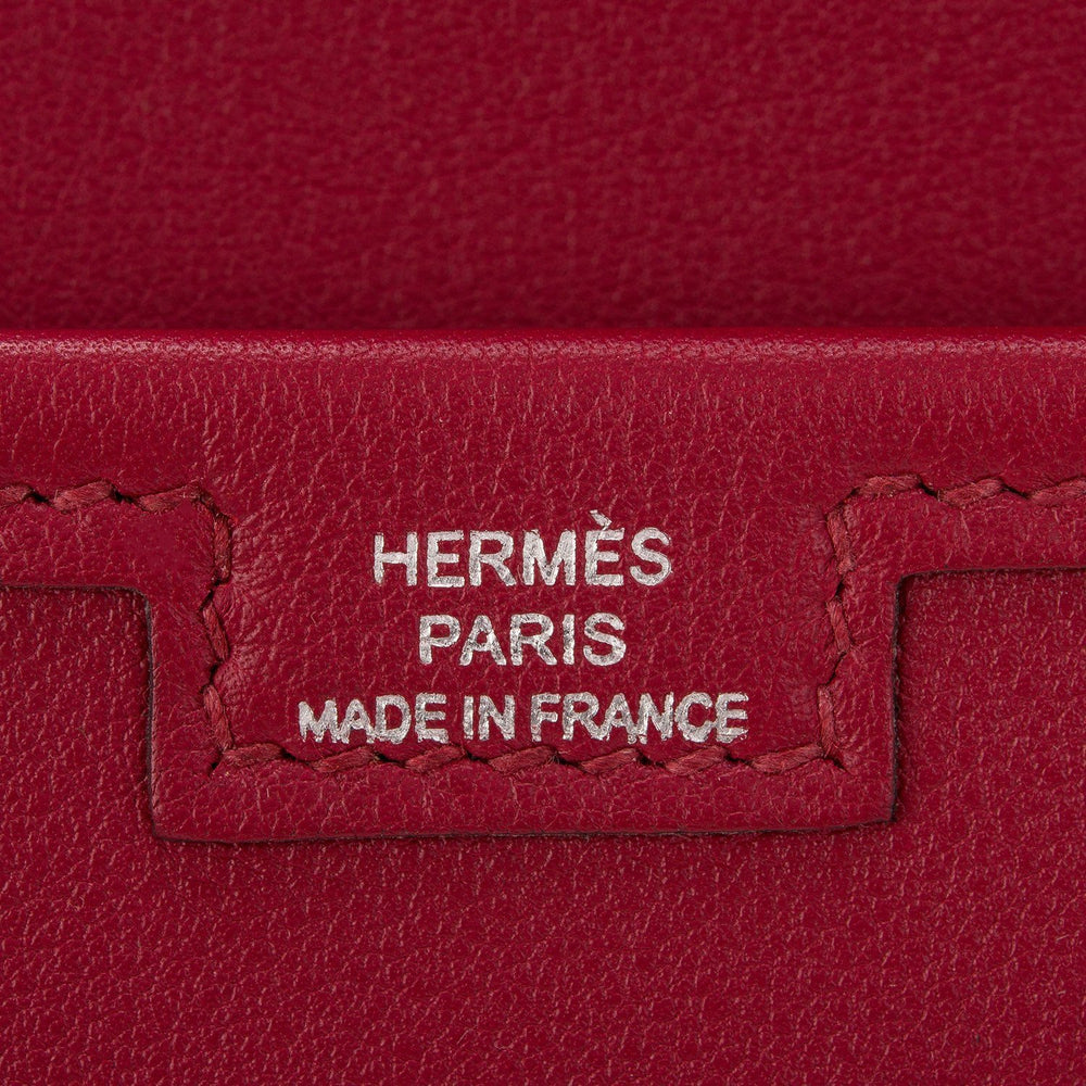 Hermes Rouge Grenat Swift Jige Elan Clutch 29Cm Handbags