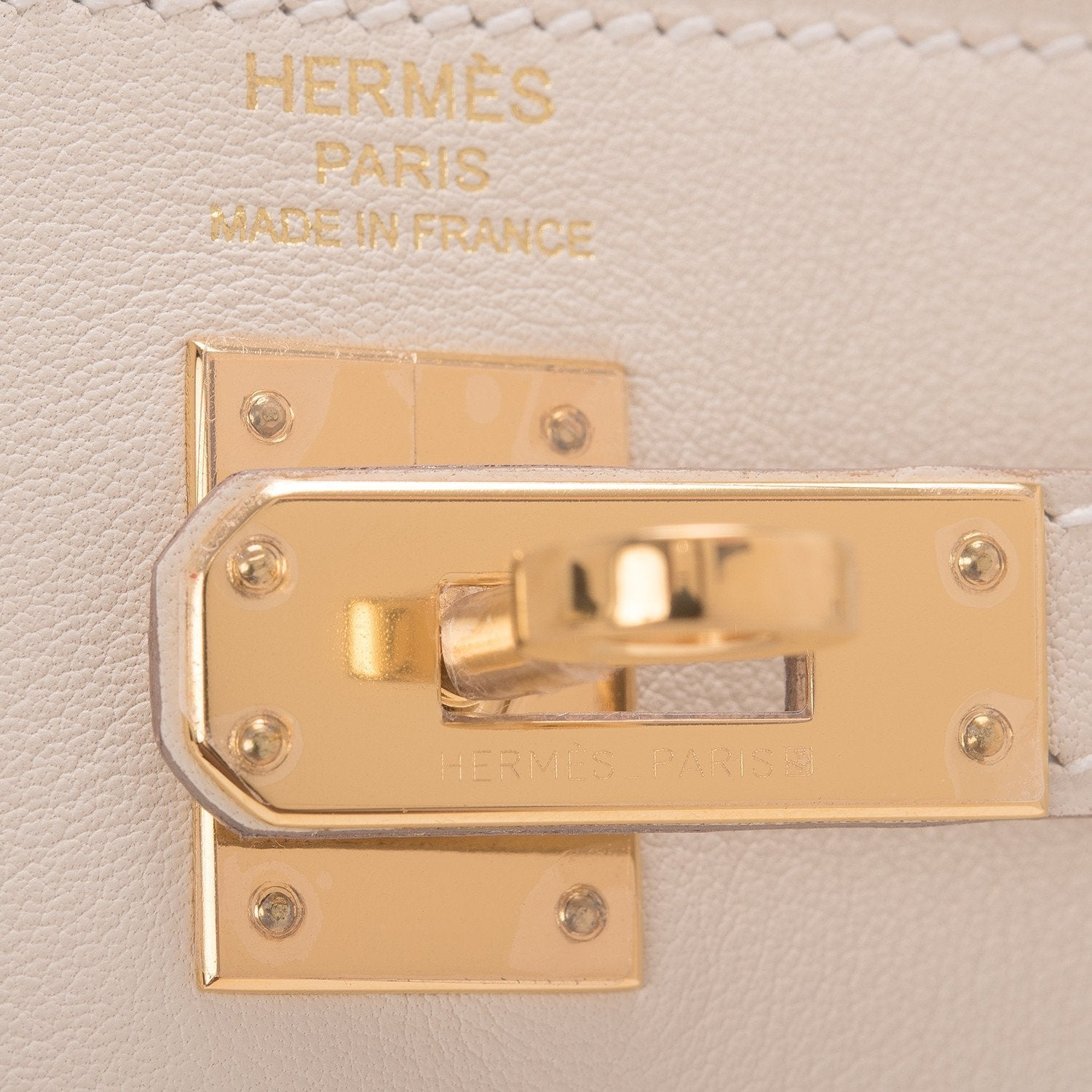 Hermes Craie Swift Kelly 25Cm Gold Hardware Handbags