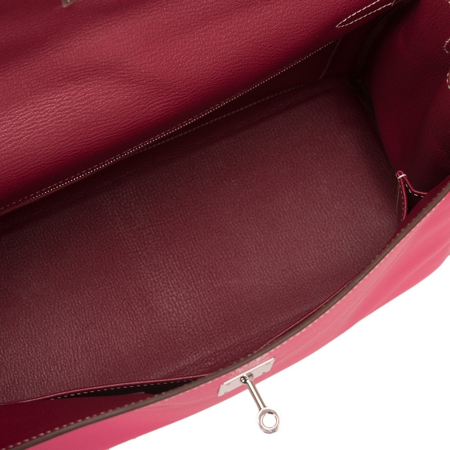 Hermes Bi Color Rose Tyrien Epsom Candy Kelly 35Cm Palladium Hardware Handbags
