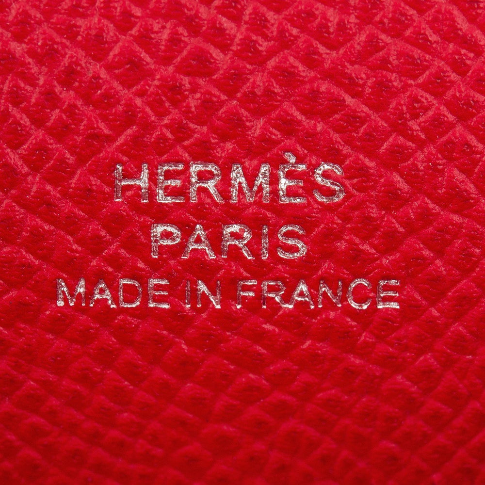 Hermes Rouge Casaque Epsom Mini Kelly Pochette Handbags