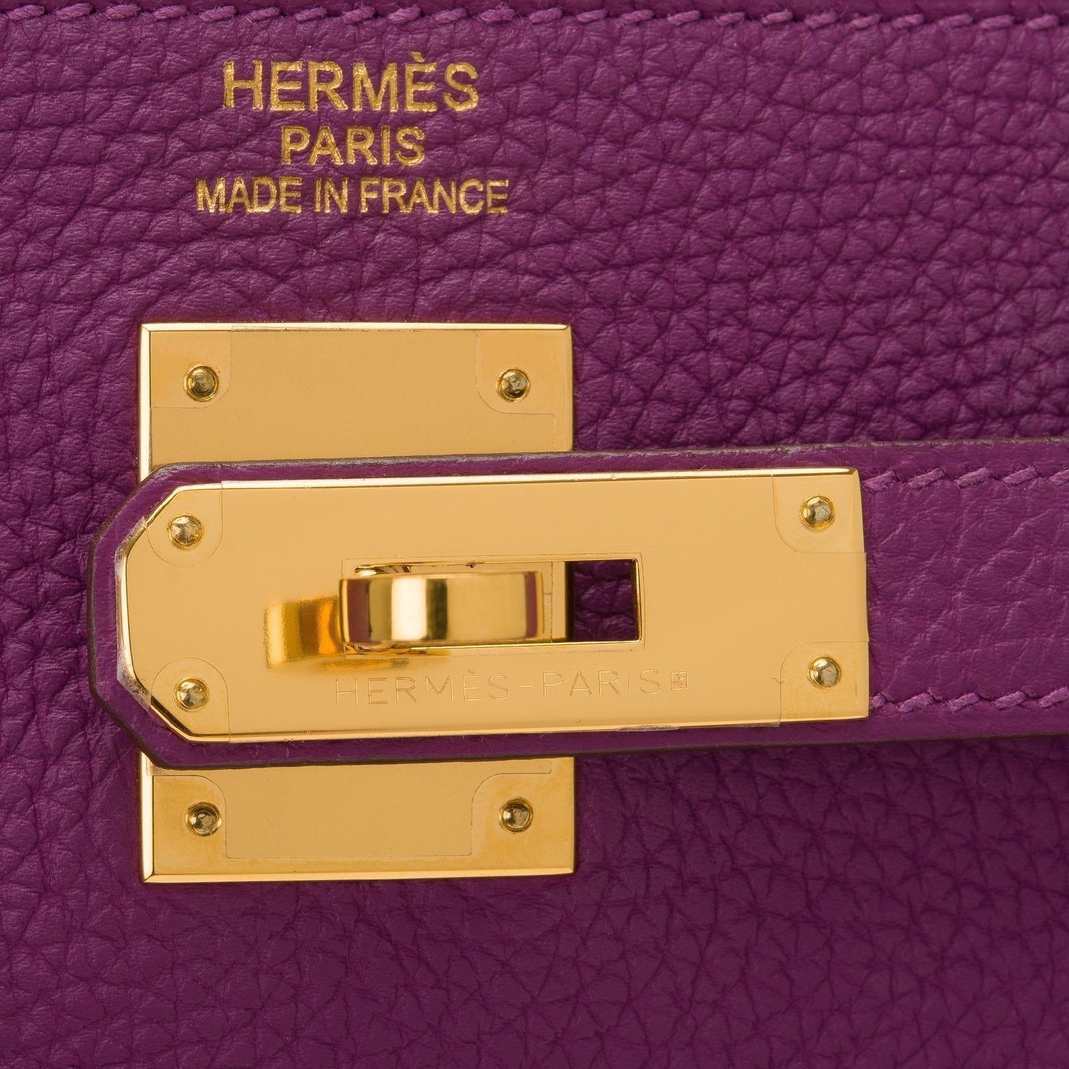 Hermes Anemone Togo Retourne Kelly 35Cm Gold Hardware Preloved Mint Handbags