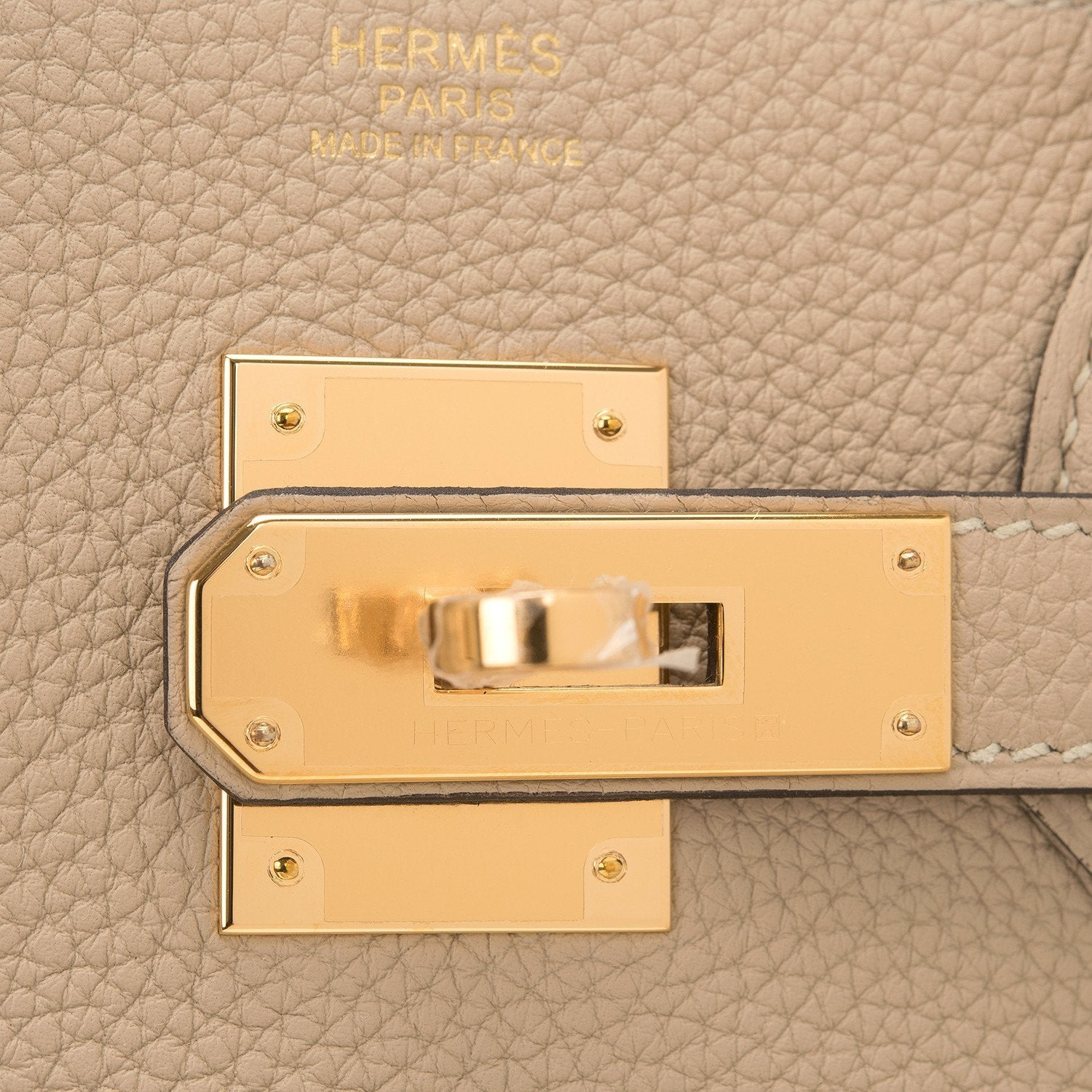 Hermes Trench Togo Birkin 30Cm Gold Hardware Handbags
