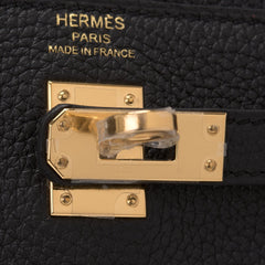 Hermes Black Togo Kelly 25Cm Gold Hardware Handbags