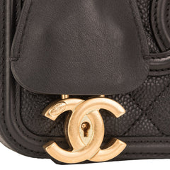 Chanel Black Caviar Small Filigree Vanity Case