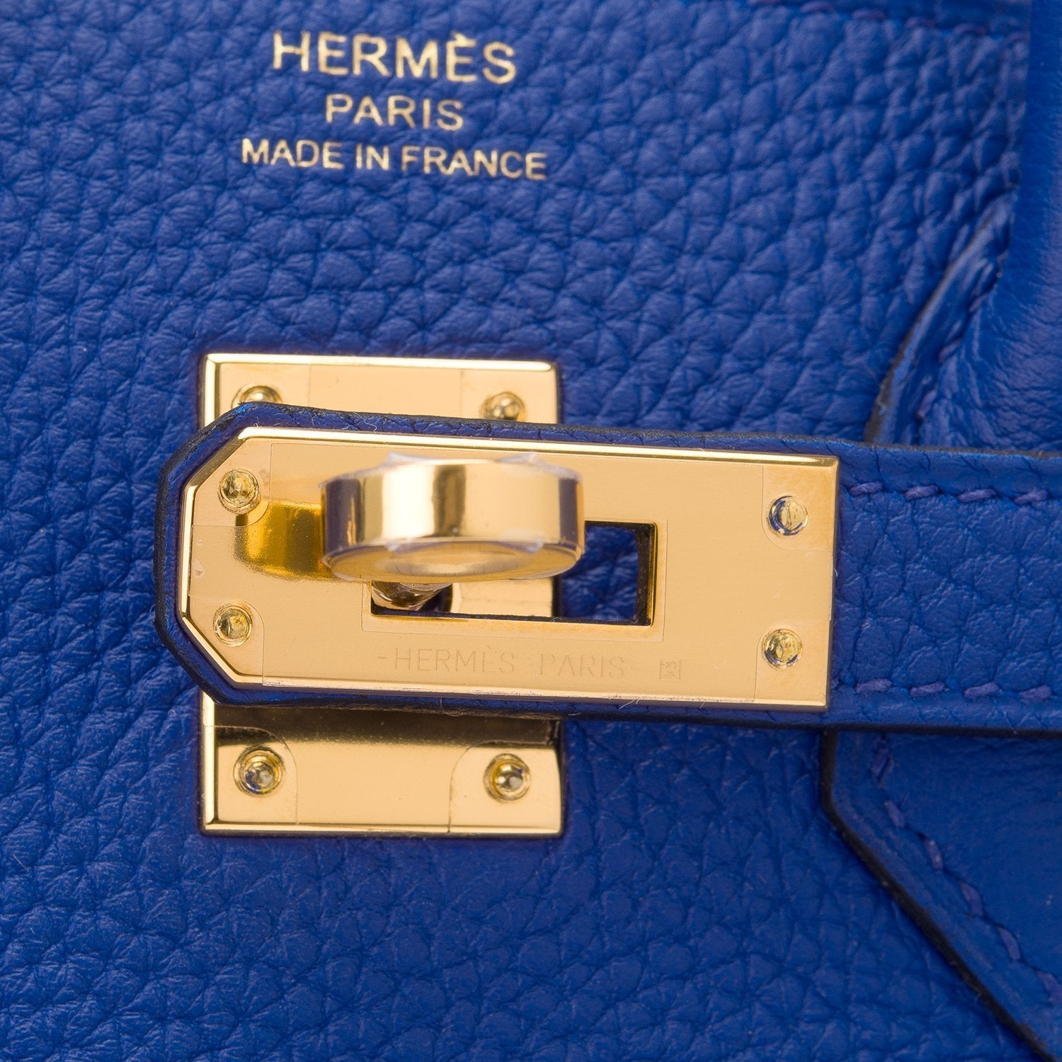 Hermes Blue Electric Togo Birkin 25Cm Gold Hardware Handbags