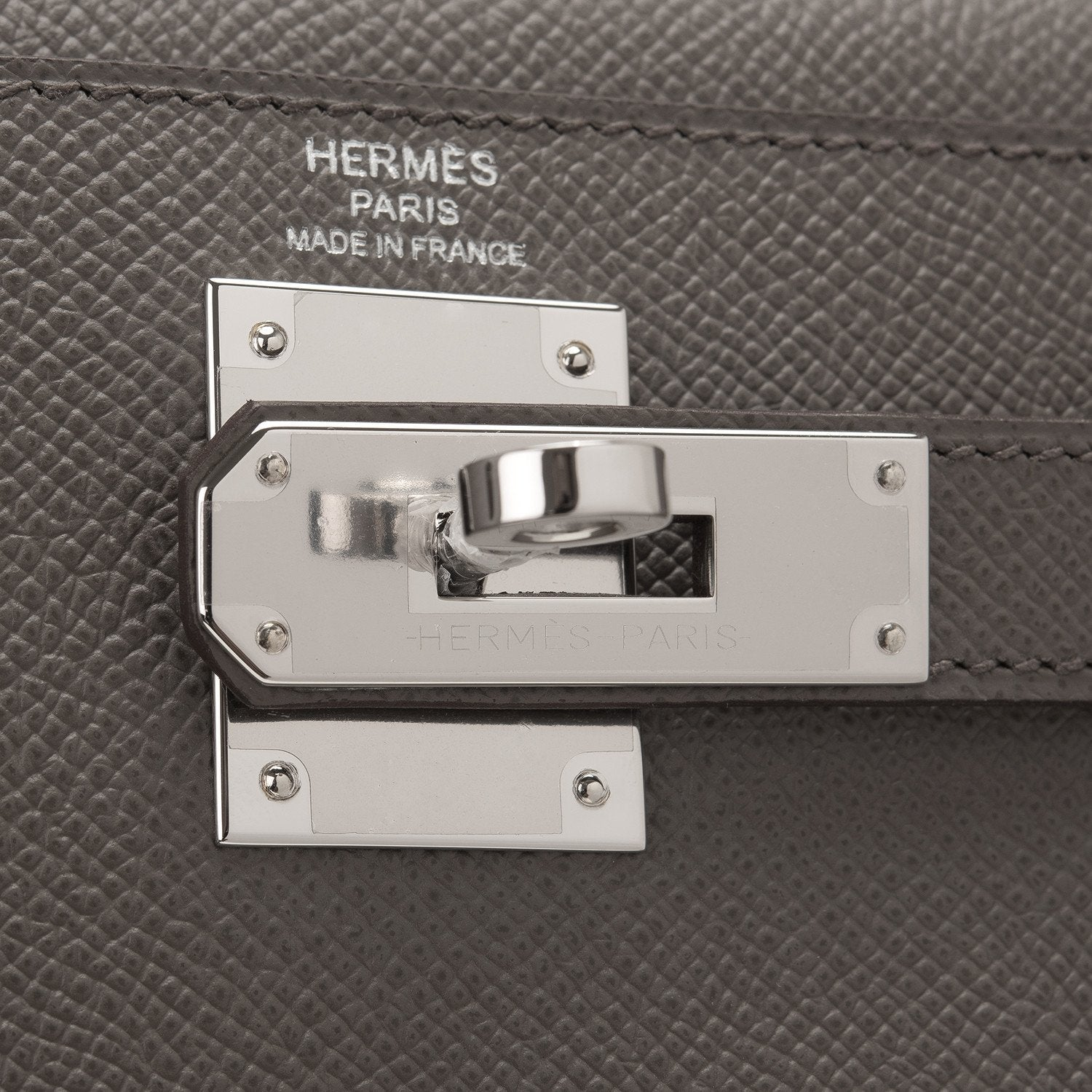 Hermes Etain Epsom Sellier Kelly 28Cm Palladium Hardware Handbags