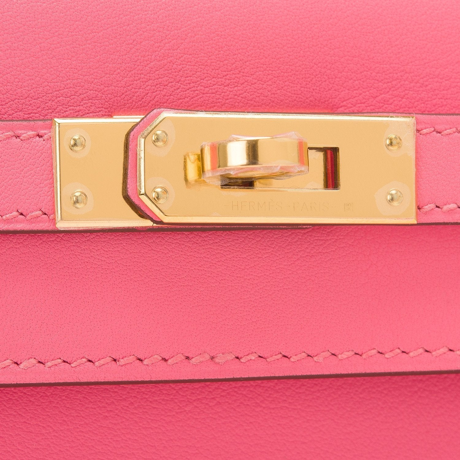 Hermes Rose Azalea Swift Mini Kelly Pochette Handbags