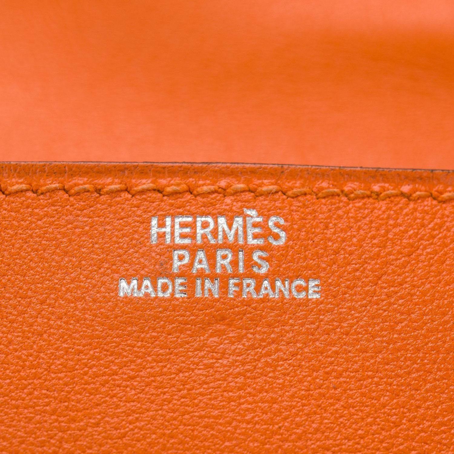 Hermes Orange Mini Kelly 20Cm Doll Palladium Hardware Preloved Excellent Handbags