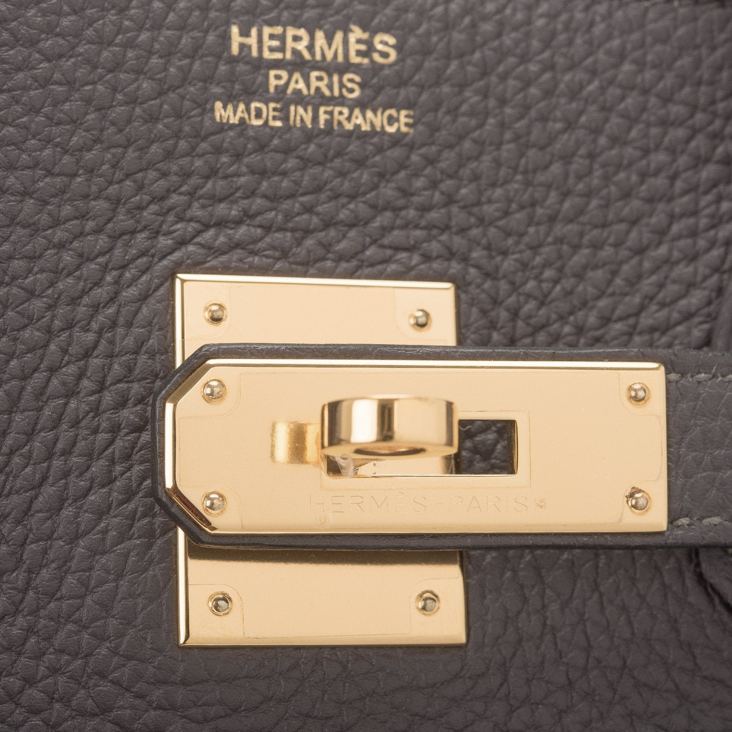 Hermes Graphite Togo Birkin 35Cm Gold Hardware Preloved Mint Handbags