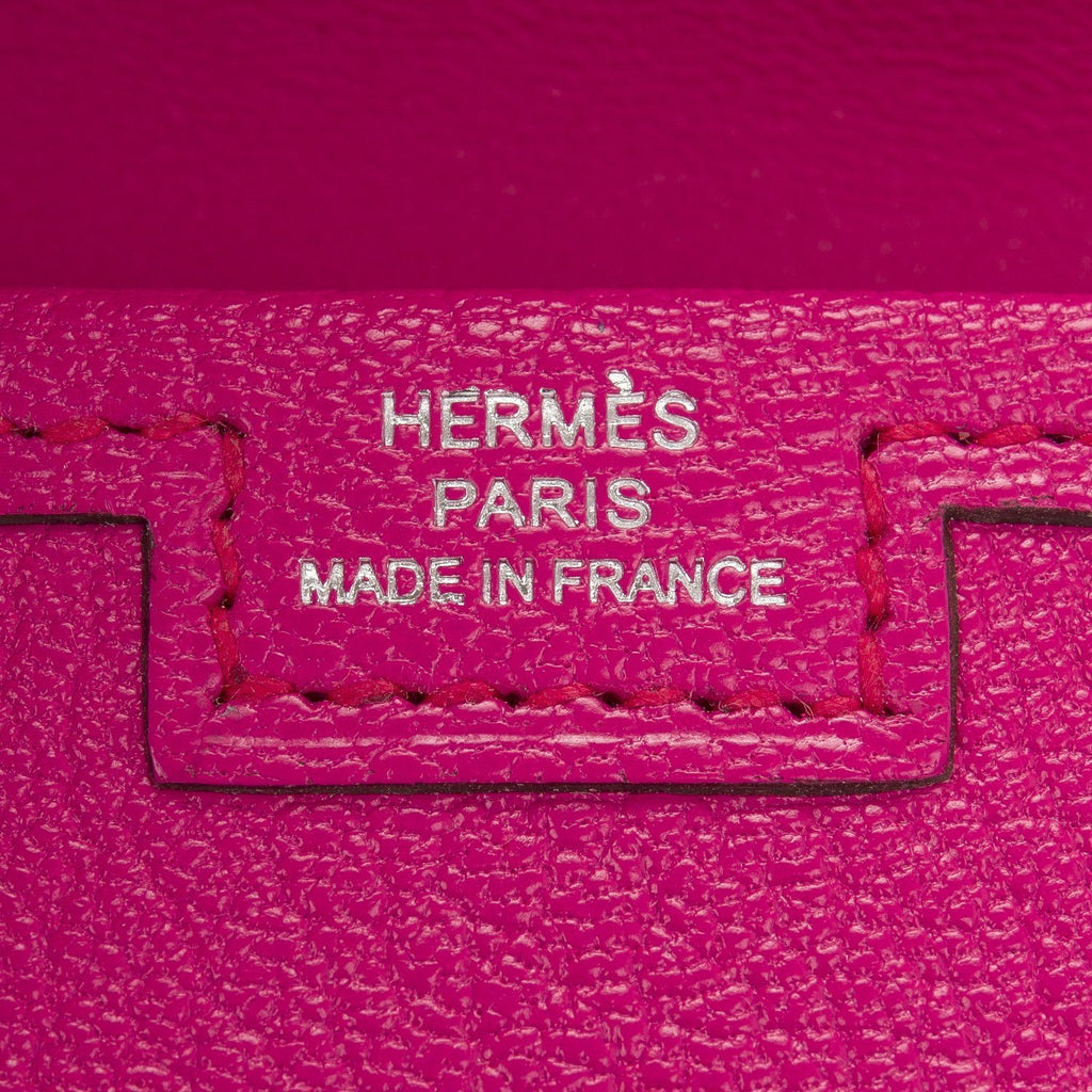 Hermes Rose Shocking Chevre Mysore Jige Elan Clutch 29Cm Handbags