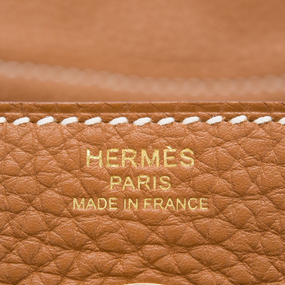 Hermes Gold Clemence Lindy 26Cm Hardware Handbags