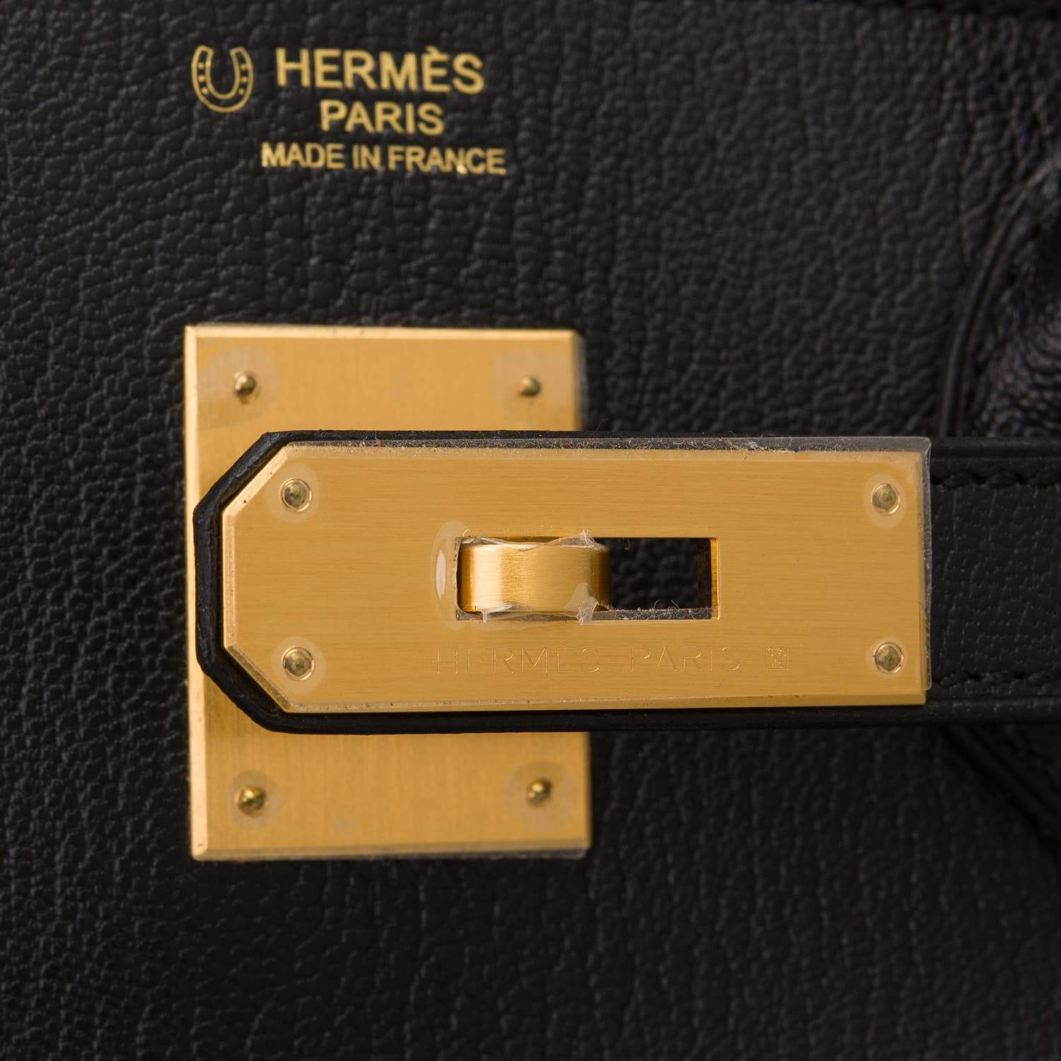 Hermes Hss Black And Blue Hydra Chevre Mysore Birkin 30Cm Brushed Gold Hardware Handbags