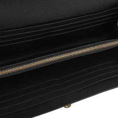Hermes Black Epsom Kelly Long Wallet Gold Hardware Handbags