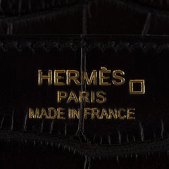 Hermes Black Matte Alligator Birkin 35cm Gold Hardware