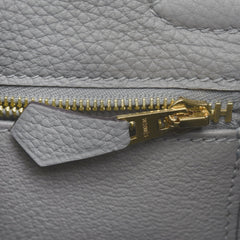 Hermes Gris Mouette Togo Kelly 25Cm Gold Hardware Handbags