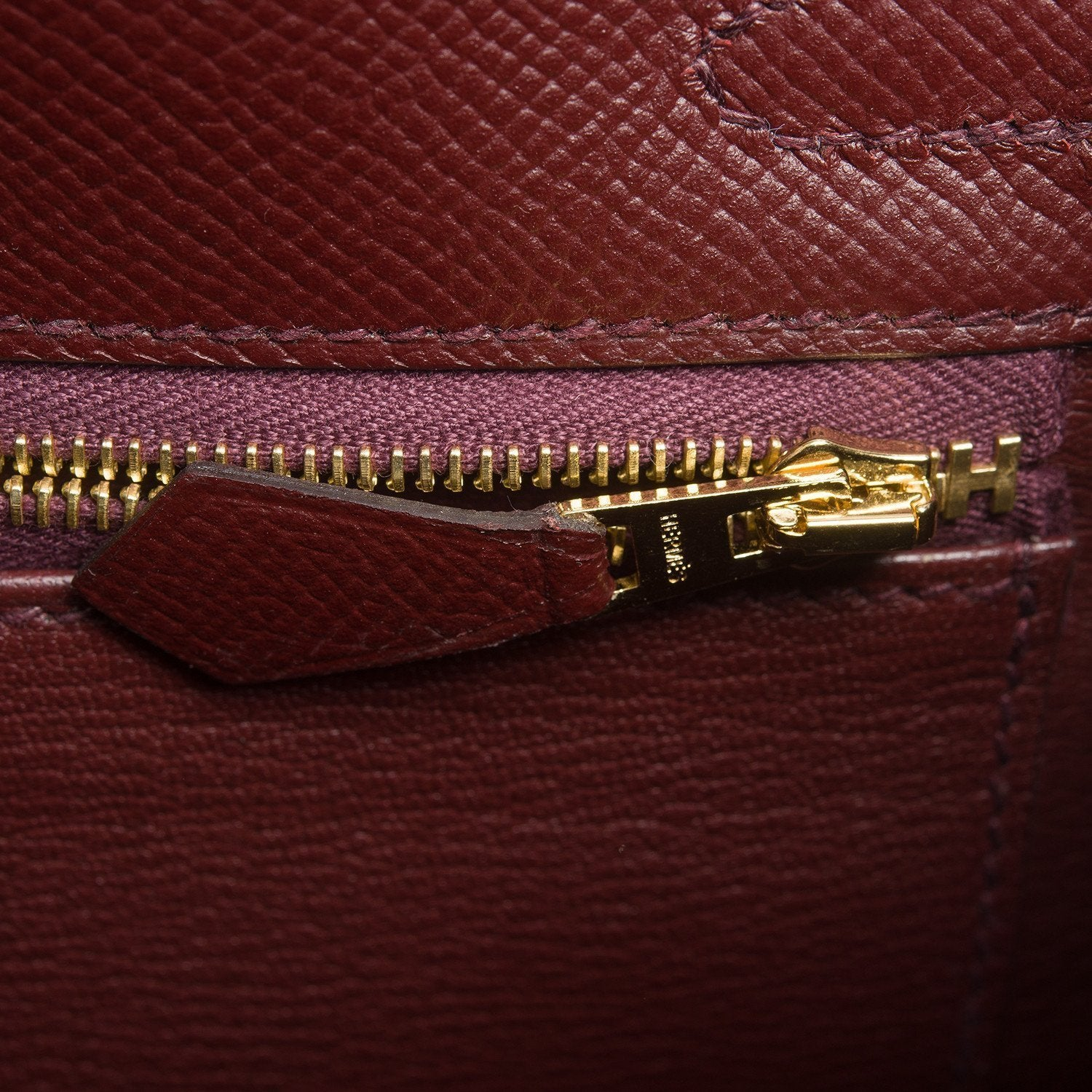 Hermes Bordeaux Epsom Sellier Kelly 28Cm Gold Hardware Handbags
