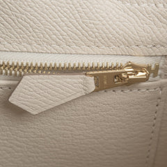 Hermes Craie Epsom Sellier Kelly 25Cm Gold Hardware Handbags