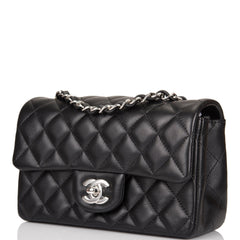 Chanel Black Quilted Lambskin Rectangular Mini Classic Flap Bag