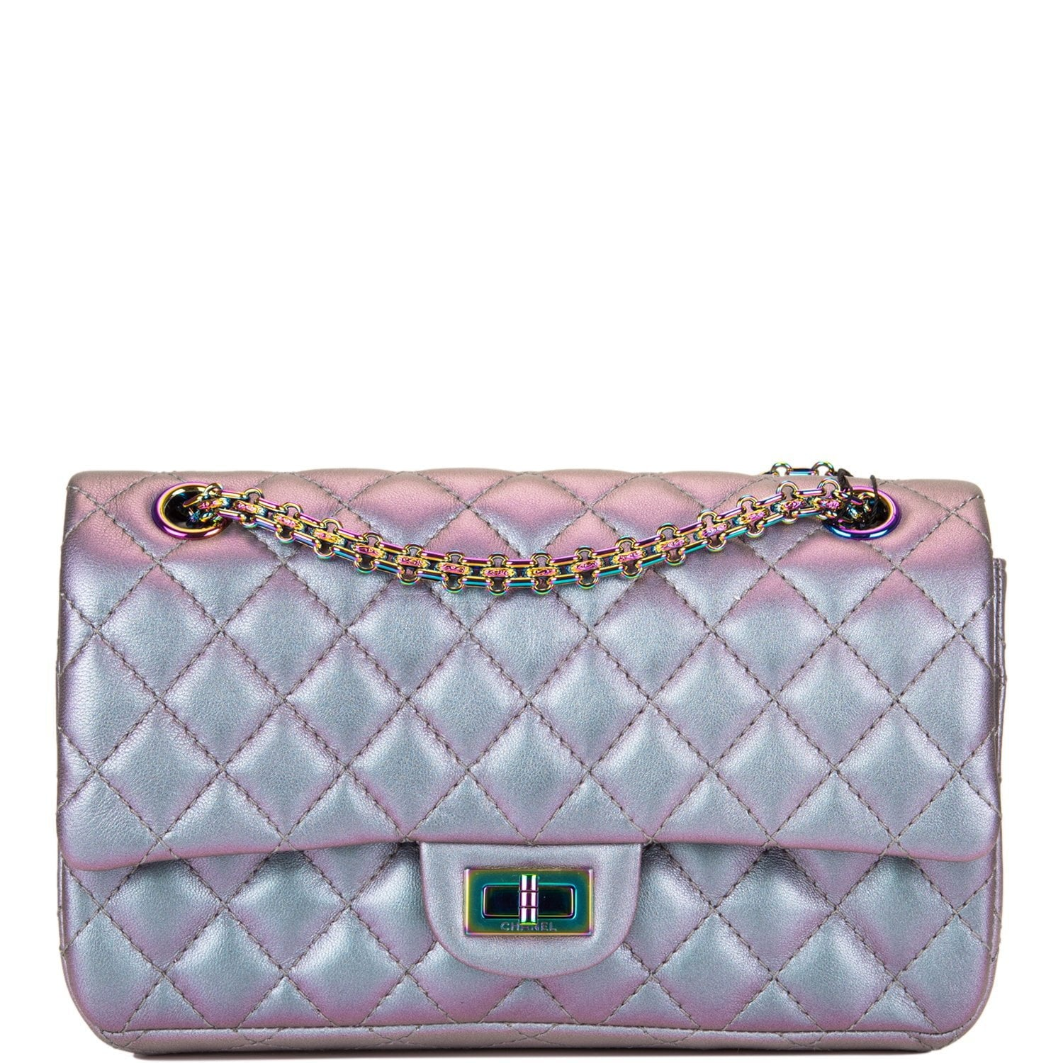 86272cbcb04f Chanel Light Purple Mermaid Iridescent Goatskin Medium 2.55 Reissue Double  Flap Bag ...