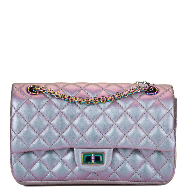 Chanel Light Purple Mermaid Iridescent Goatskin Medium 2.55 Reissue Double Flap Bag