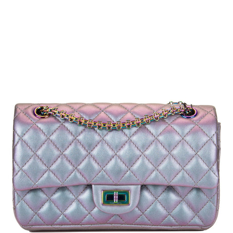 fc3dfd2baeebf7 Chanel Light Purple Mermaid Iridescent Goatskin Medium 2.55 Reissue Double  Flap Bag