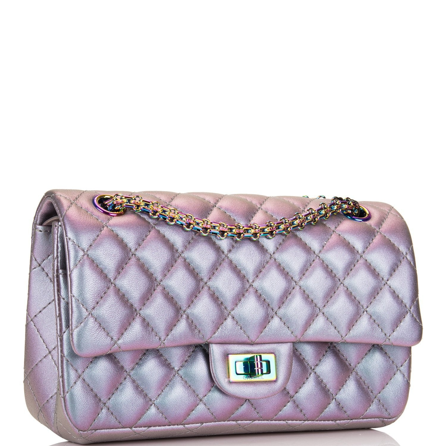 a5d1b7e5dedc Chanel Light Purple Mermaid Iridescent Goatskin Medium 2.55 Reissue Do –  Madison Avenue Couture