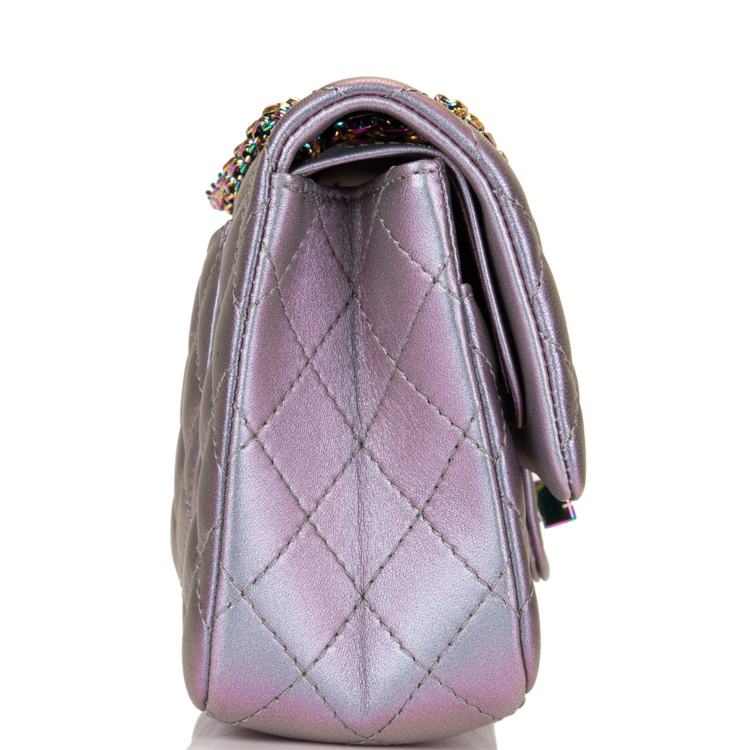 8a4db677d64f ... Chanel Light Purple Mermaid Iridescent Goatskin Medium 2.55 Reissue  Double Flap Bag ...