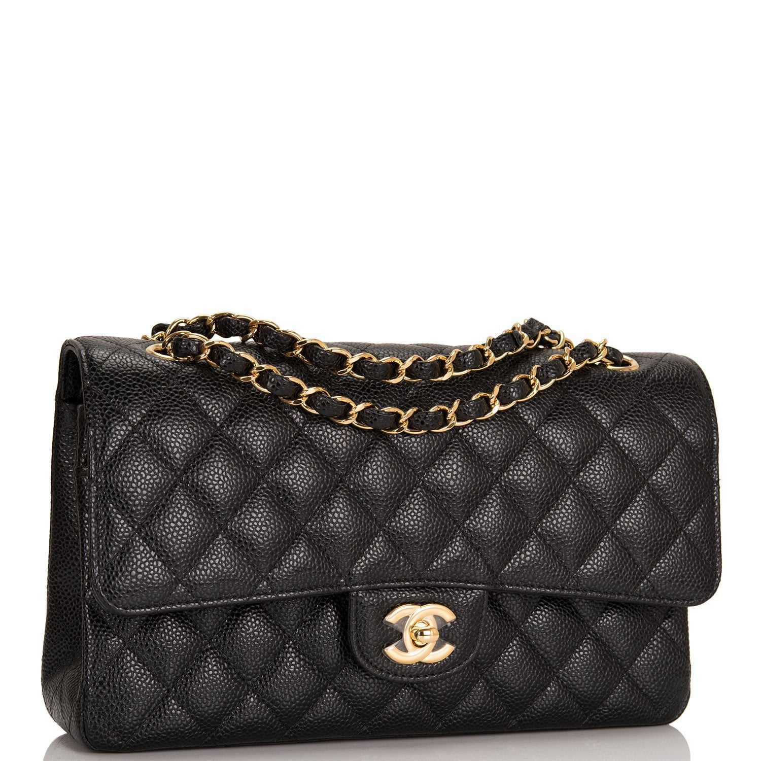 efde9dd885cfcd Chanel Black Quilted Caviar Medium Classic Double Flap Bag – Madison Avenue  Couture