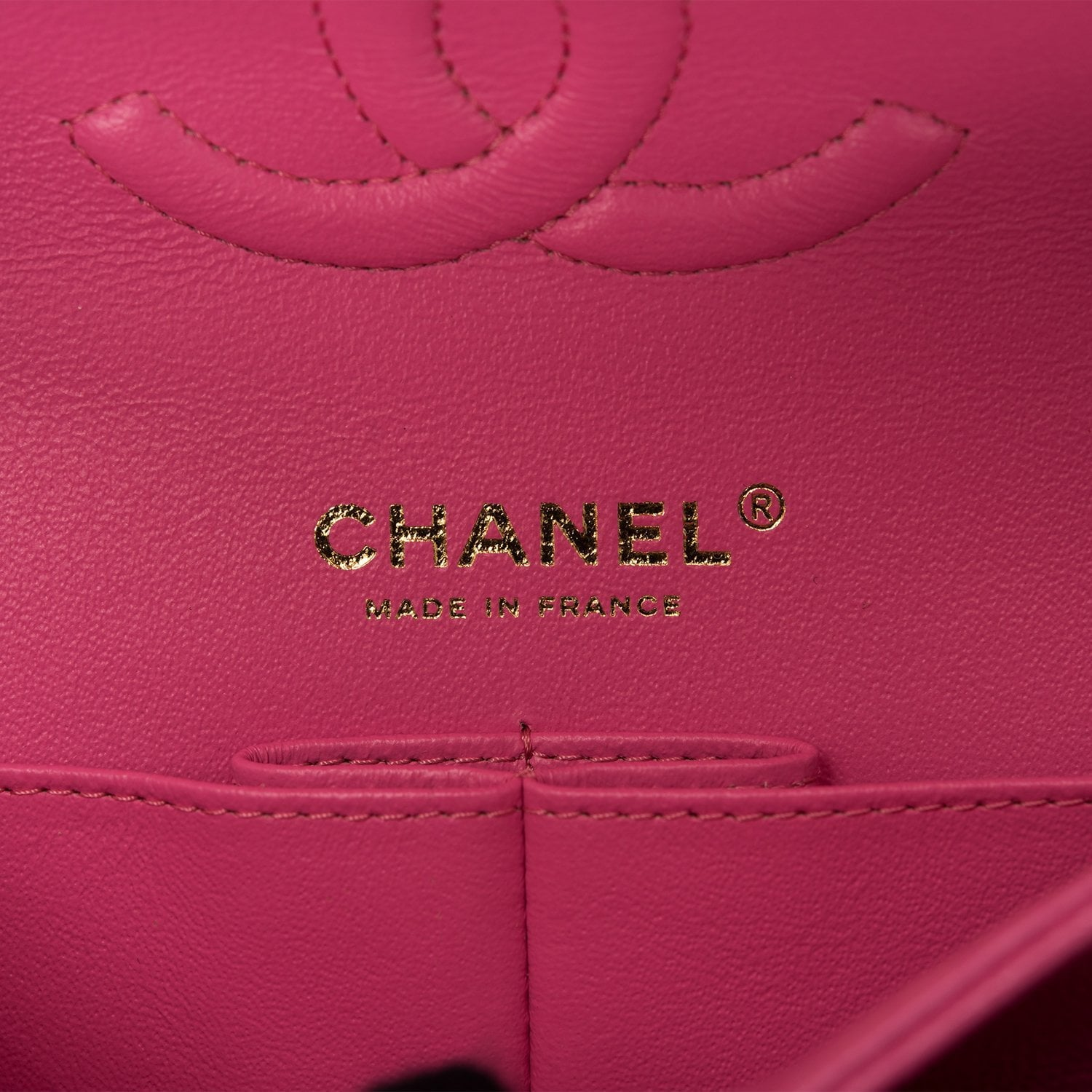 Chanel Pink Quilted Caviar Medium Classic Double Flap Bag