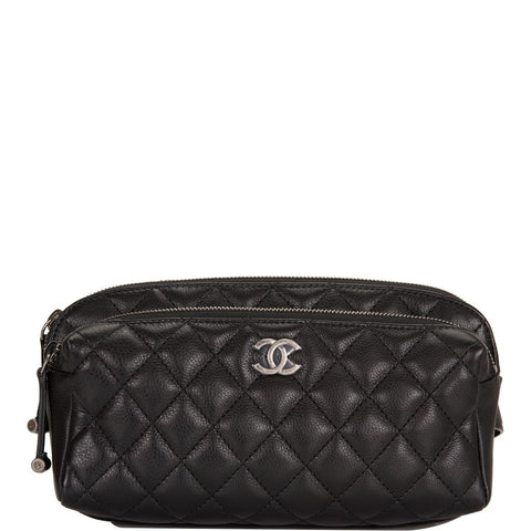 24e76cec4037 Chanel Black Quilted Calfskin Waist Bag (Fanny Pack)