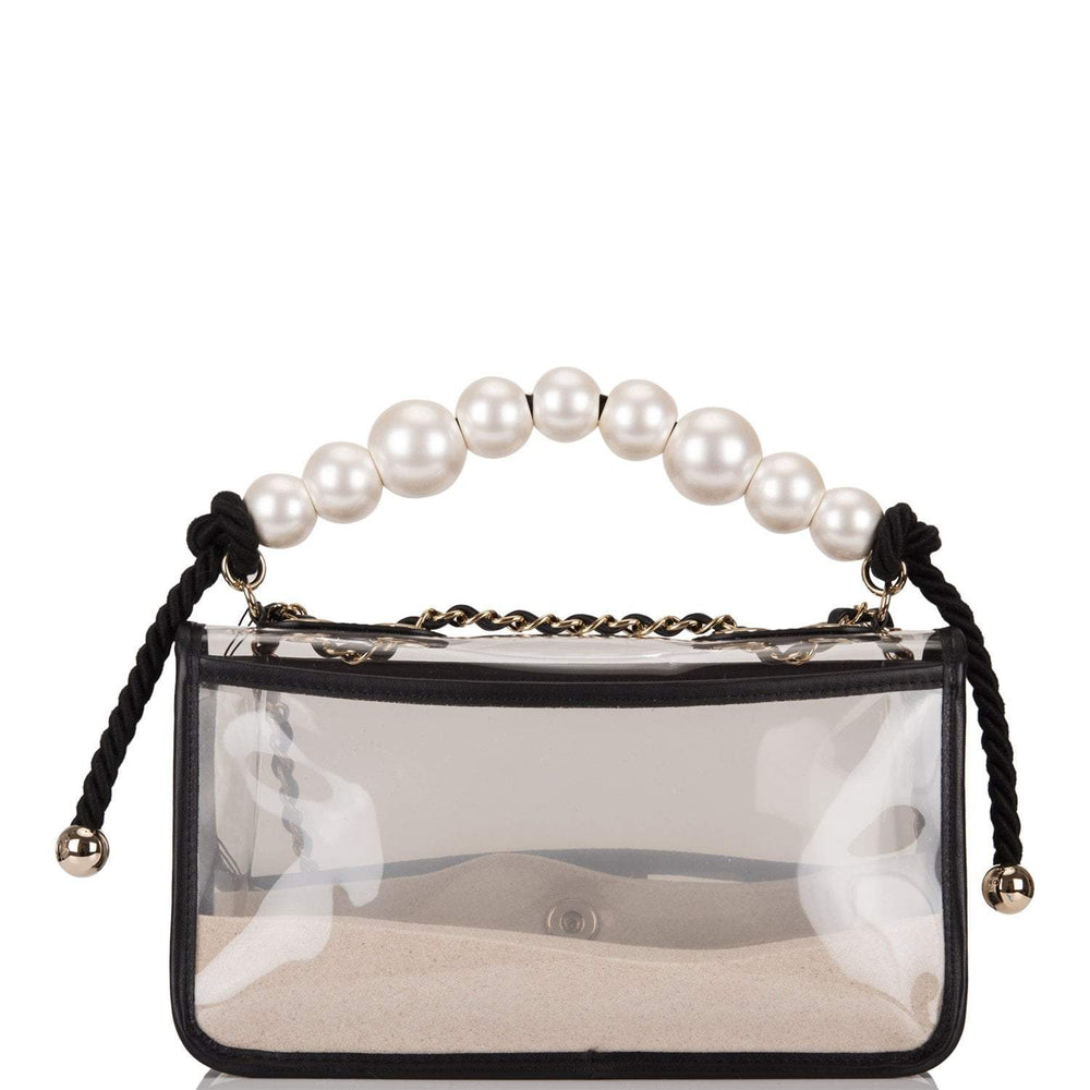 "Chanel Transparent ""Sand By The Sea"" Pearl Flap Bag"