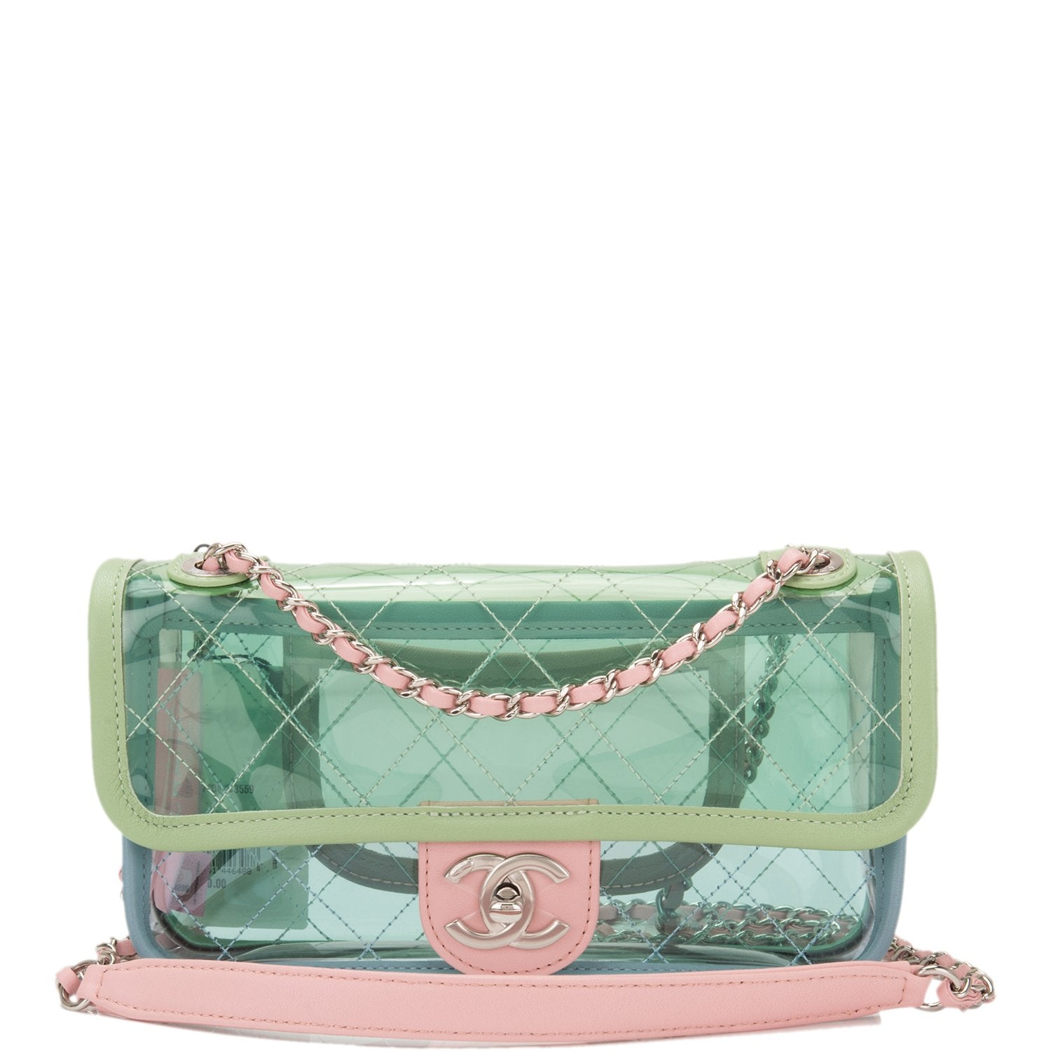 Chanel Multicolor PVC and Lambskin Quilted Flap Bag