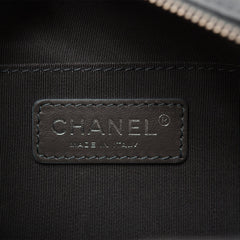 Chanel Grey Quilted Calfskin Waist Bag (Fanny Pack)