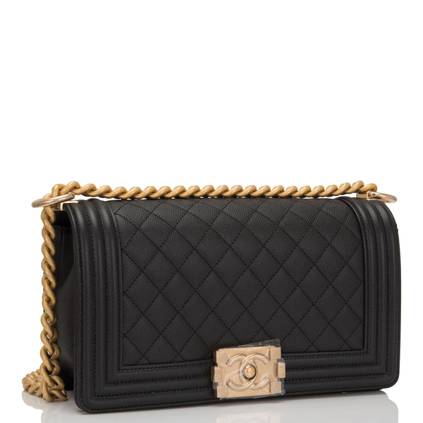 cb984612c57d Chanel Black Quilted Caviar Medium Boy Bag – Madison Avenue Couture