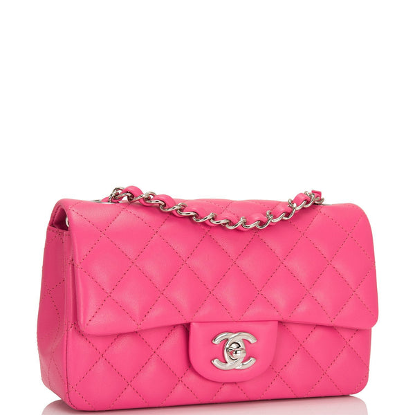 2191e409a35c8a ... Chanel Pink Quilted Lambskin Rectangular Mini Classic Flap Bag ...
