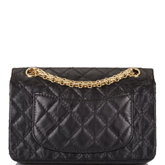 Chanel Black Quilted Aged Calfskin Mini Reissue 2.55 Flap Bag Gold Hardware