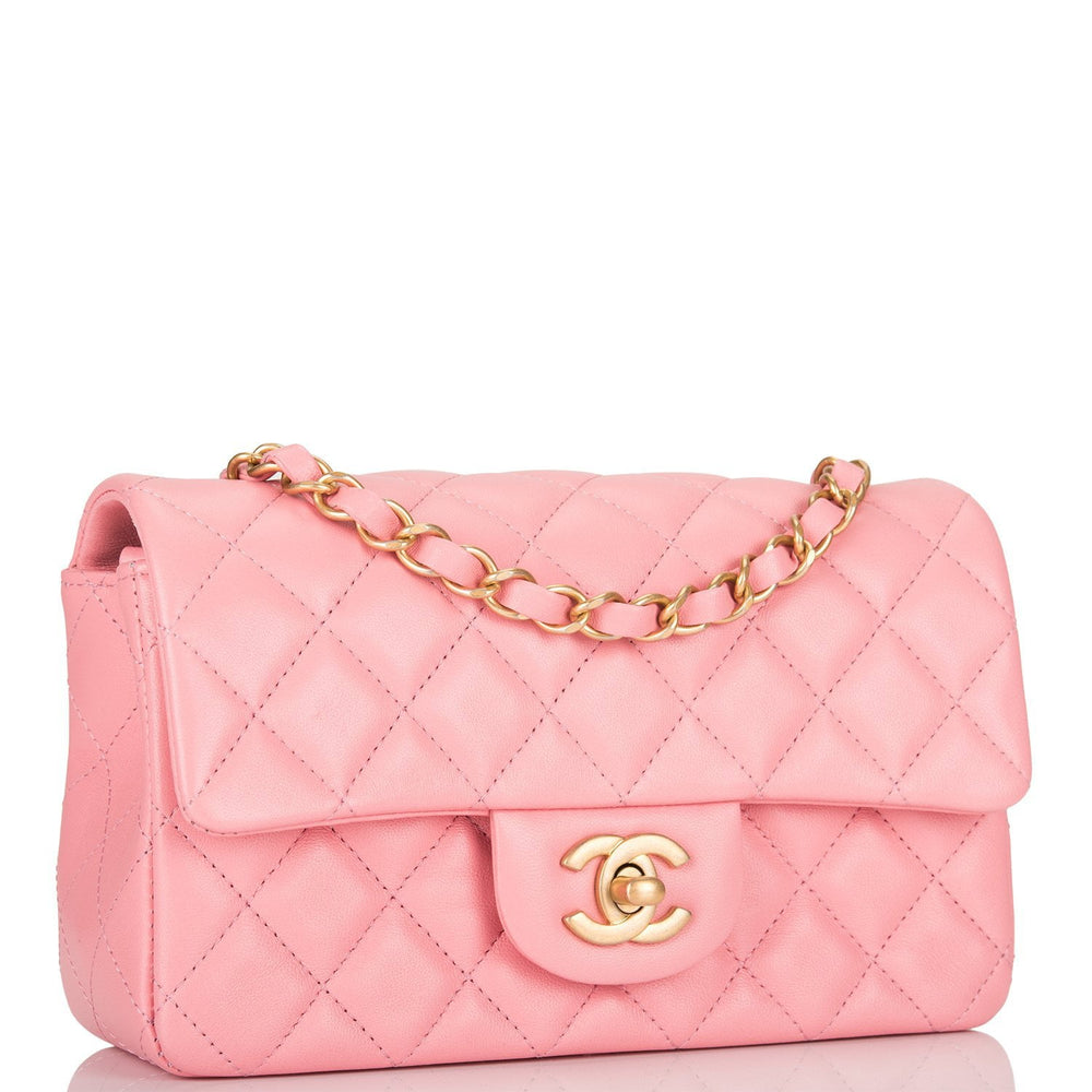 Chanel Pink Quilted Lambskin Rectangular Mini Classic Flap Bag