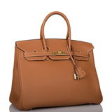 Hermes Gold Togo Birkin 35cm Gold Hardware (Preloved - Mint)