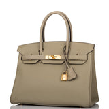 Hermes Sauge Clemence Birkin 30cm Gold Hardware (Preloved - Mint)