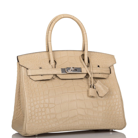 Hermes Trench Matte Alligator Birkin 30cm Palladium Hardware