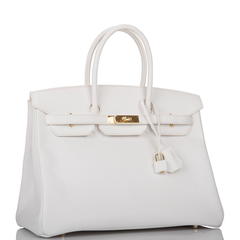 Hermes White Epsom Birkin 35cm Gold Hardware (Preloved - Mint)