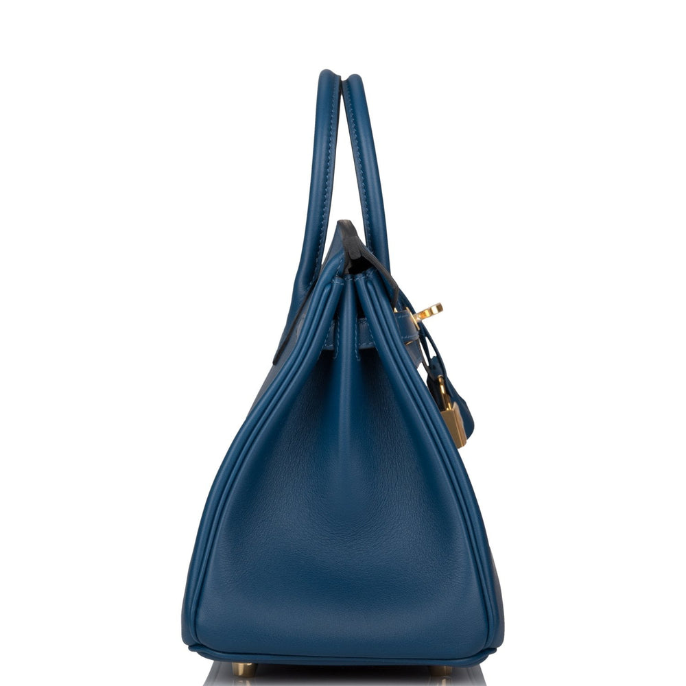 Hermes Deep Blue Swift Birkin 25cm Gold Hardware